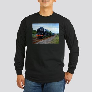 Flying Scotsman - Steam Train Long Sleeve T-Shirt